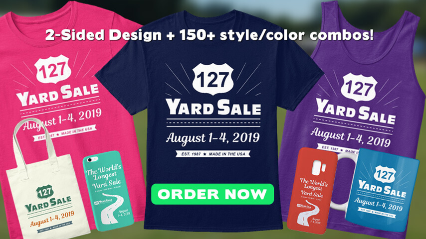 127 Yard Sale T shirts 2019