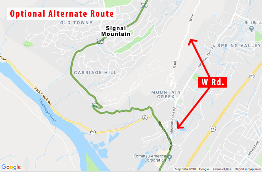 Signal Mountain TN alternate route - 127 Yard Sale